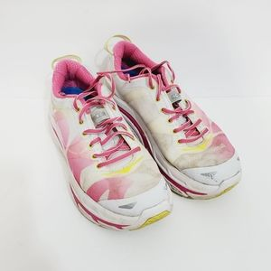 Hoka  One  valor Running shoes White Pink size 8